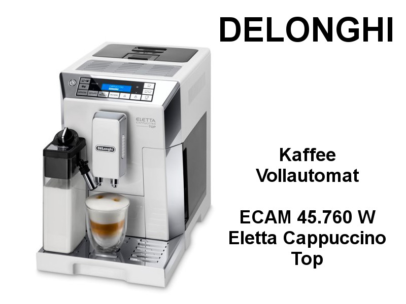 delonghi kaffee vollautomat ecam 45 kuechenmaschine. Black Bedroom Furniture Sets. Home Design Ideas