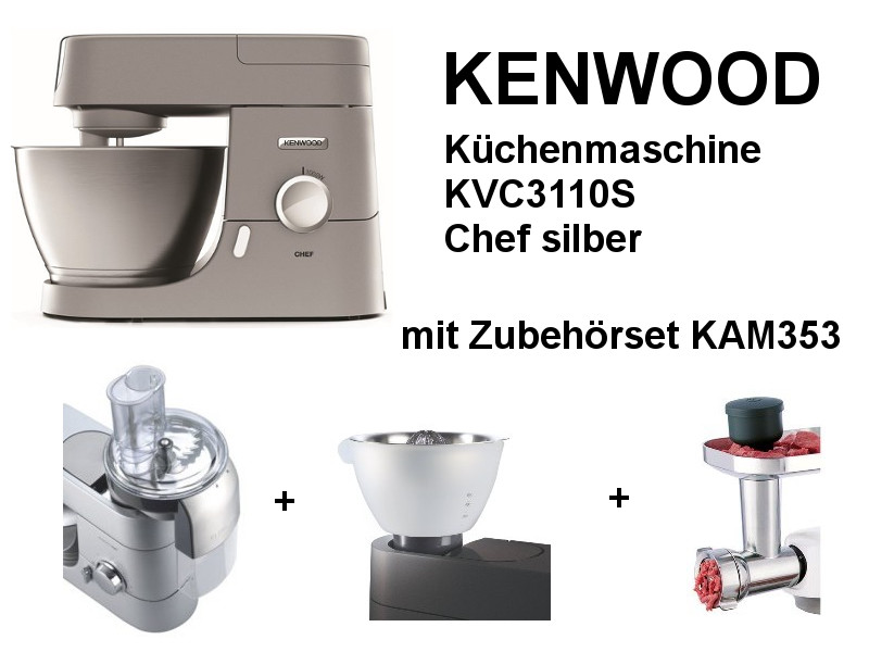 kenwood k chenmaschine kvc3110s che kuechenmaschine. Black Bedroom Furniture Sets. Home Design Ideas